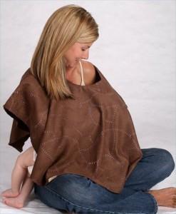 Brown Lovedbaby nursing shawl