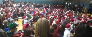 A Sea Of Santa Hats