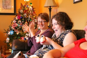 cousins celebrating at Christmas