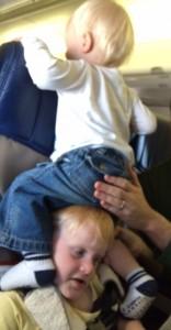 children on a plane