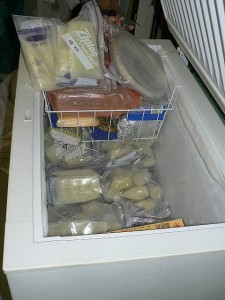 chest freezer with breastmilk