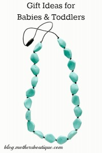 Gemstones teething necklace